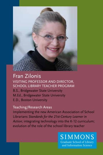 Fran Zilonis Profile - Simmons College