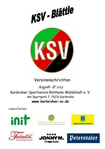 Sommer 2013 - Karlsruher SV