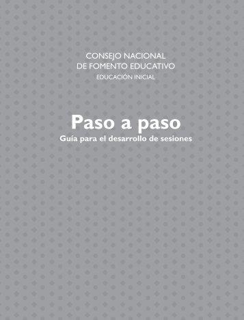 Paso a paso - conafe.edu.mx