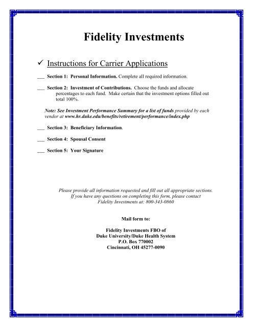 Fidelity Investments - Duke University