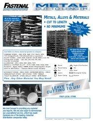Metals linecard - Fastenal