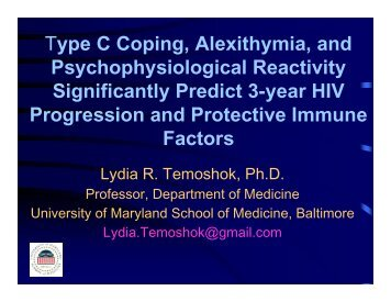 Type C coping, Alexithymia, and Psychophysiological Reactivity ...