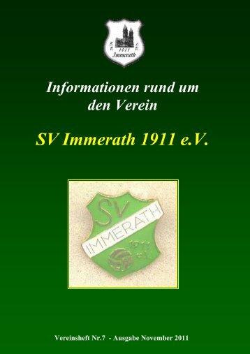 Samstag den 26. November 2011 ab 18:30 Uhr im Immerather ...