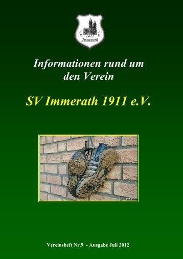 Freitag den 7. September 2012 ab 16:00 Uhr - SV Immerath 1911 eV