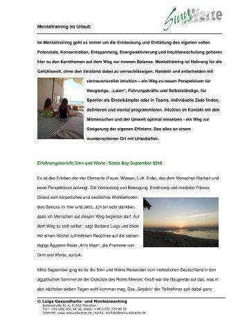 Mentaltraining im Urlaub - The Breakers Diving & Surfing Lodge