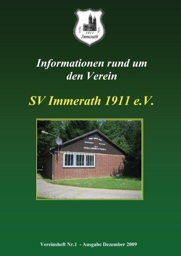 Vereinszeitschrift - SV Immerath 1911 eV
