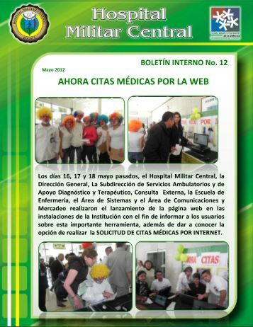 Boletín interno No. 12.pdf - Hospital Militar
