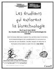 Les étudiants qui explorent la biotechnologie   Musée des sciences ...