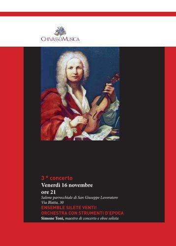 3 ° concerto Venerdì 16 novembre ore 21 - Chivasso in Musica