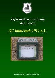 Samstag der 21. August 2010 ab 14:00 Uhr - SV Immerath 1911 eV