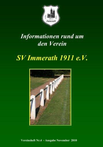 Jahresabschlussfeier 2010 - SV Immerath 1911 eV