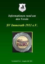 ab 14:00 Uhr & Sonntag den 10. Juli 2011 - SV Immerath 1911 eV