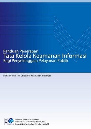 Panduan Penerapan Tata Kelola Keamanan Informasi bagi ...