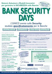 Bank Security Days - Clusit
