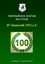Sonntag den 17. April 2011 ab 10:30 Uhr - SV Immerath 1911 eV
