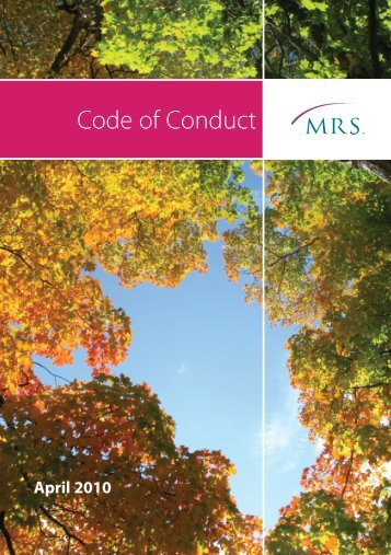 Code of Conduct - Market Research Society