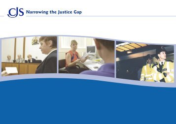 Narrowing the Justice Gap - Crown Prosecution Service