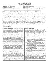 Course Syllabus - University of Oregon