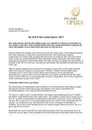 Link til pressemeddelelse fra 30. marts - Den Jyske Opera