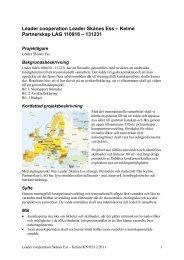 Leader cooperation Skånes Ess – Kelme - Leader i Skåne