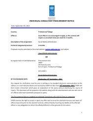 individual consultant procurement notice - UNDP Trinidad and Tobago