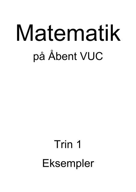 på Åbent VUC Trin 1 Eksempler - VUC Aarhus