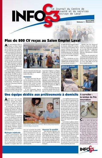 Volume 1 Numéro 3 - Centre de santé et de services sociaux de Laval