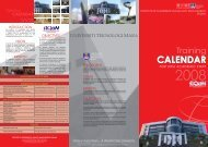 CALENDAR - Institute of Leadership & Quality Management - UiTM