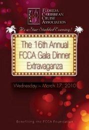 Gala Program - The Florida-Caribbean Cruise Association