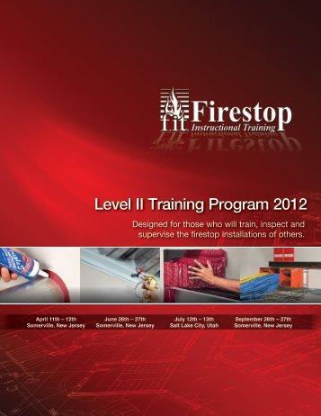 Level II Training Program 2012 - STI - Specified Technologies Inc