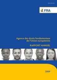 Agence des droits fondamentaux de l'Union européenne RAPPORT ...