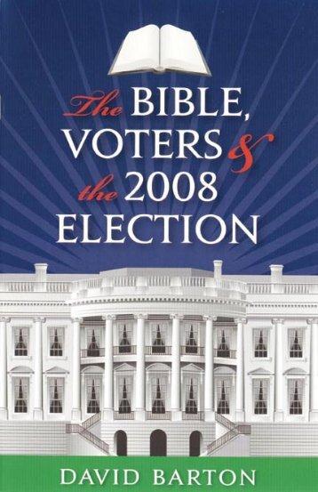 Bible Voters Election.indd - WallBuilders