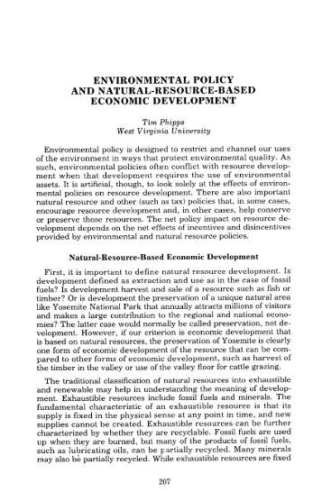 environmental policy and natural-resource-based ... - Agecon Search