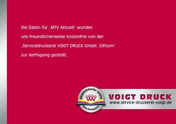 VOIGT DRUCK - MTV Gifhorn