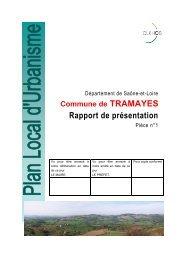 Rapport de présentation - Plan Local d'Urbanisme - Tramayes