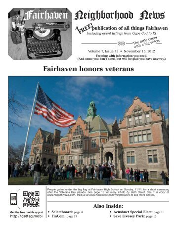 From The Editor - Fairhaven Neighborhood News