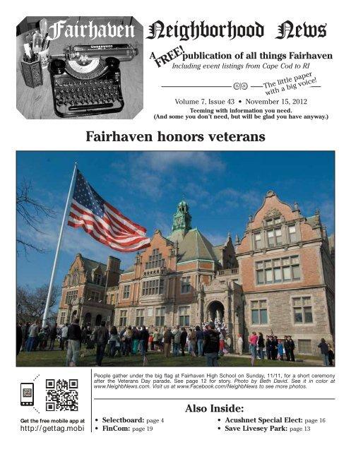 From The Editor - Fairhaven Neighborhood News