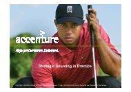 Strategic Sourcing in Practice