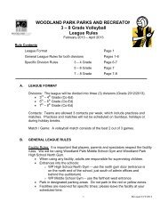 2013 Youth Volleyball League Rules - City of Woodland Park