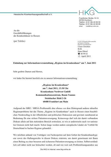 Brief Mit Briefkopf Vdpk