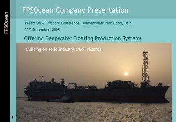 FPSOcean Company Presentation
