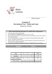 Example #1 Recruitment Test – Maths and Logic - ProCredit