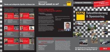Folder Sportlerfoerderung - ADAC Ortsclub-Portal