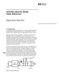 Schottky Barrier Diode Video Detectors Application Note 923
