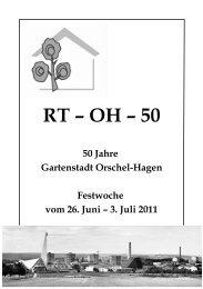 Für das Fest am 02. Juli 2011 wird um ... - Orschel-Hagen