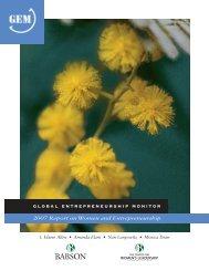 GEM 2007 Report on Women and Entrepreneurship - KTI