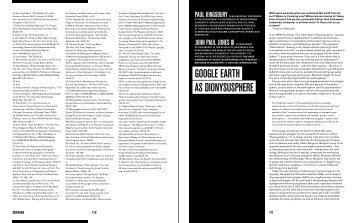 google earTh as dionysusPhere - Simon Fraser University