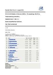 Resultat Skive Trav d. 1. august 2011 V5: 6-5-6-8-8 Rækker: 26 ...