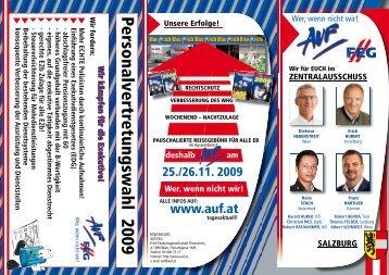 Personalvertretungswahl 2009 - AUF.at