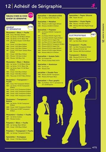 12 Adhésif de Sérigraphie - Easy catalogue